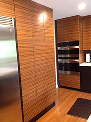 Diy project ideas wisewood veneer this kitchen features blue print matched reconstituted rosewood wood veneer with the 3m pressure sensitive adhesive psa backer solutioingenieria Image collections